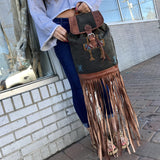 Milo Kilim X Fringe Backpack