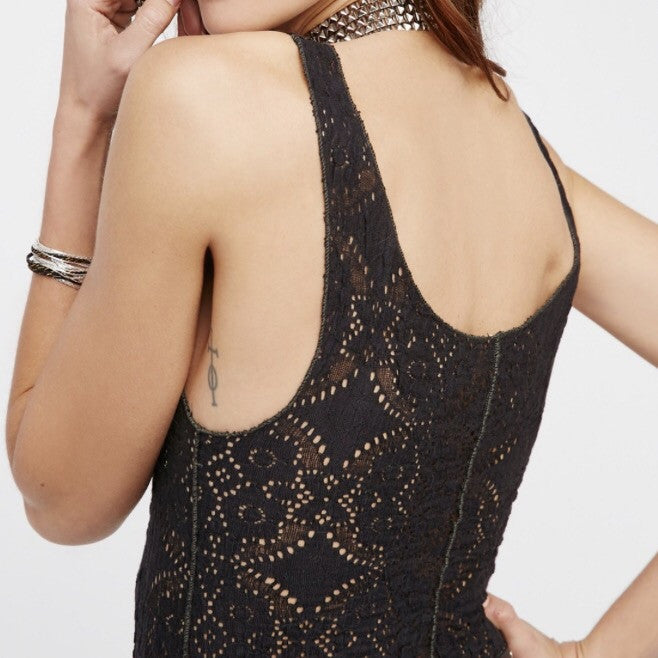 Pucker Lace Notch Cami - Wildflower