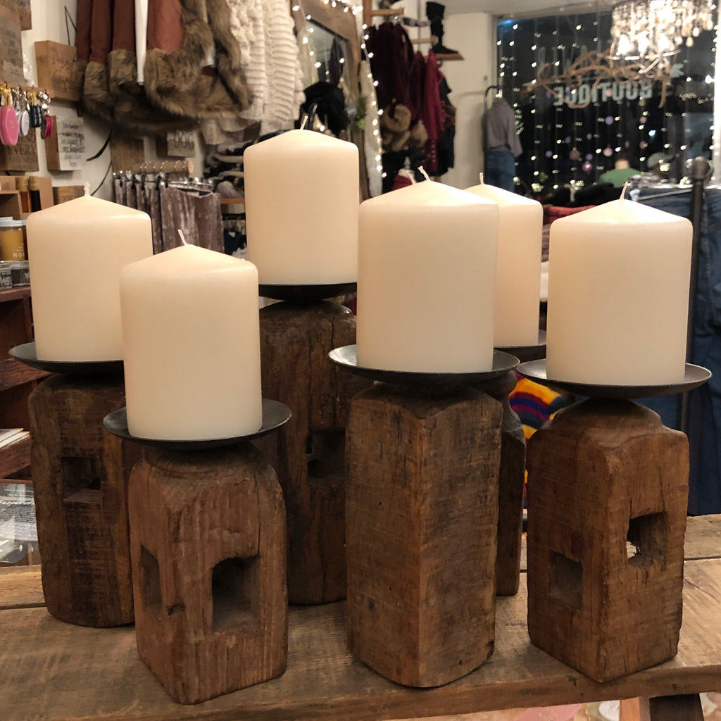 Reclaim Wood Candle Holder