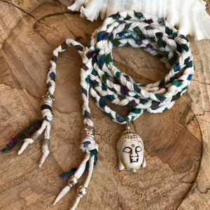 Buddha Wrap Necklace - Wildflower Long Island