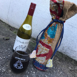 Kantha Wine Bag