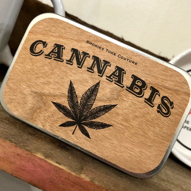 Hemp Leaf Stash Tin