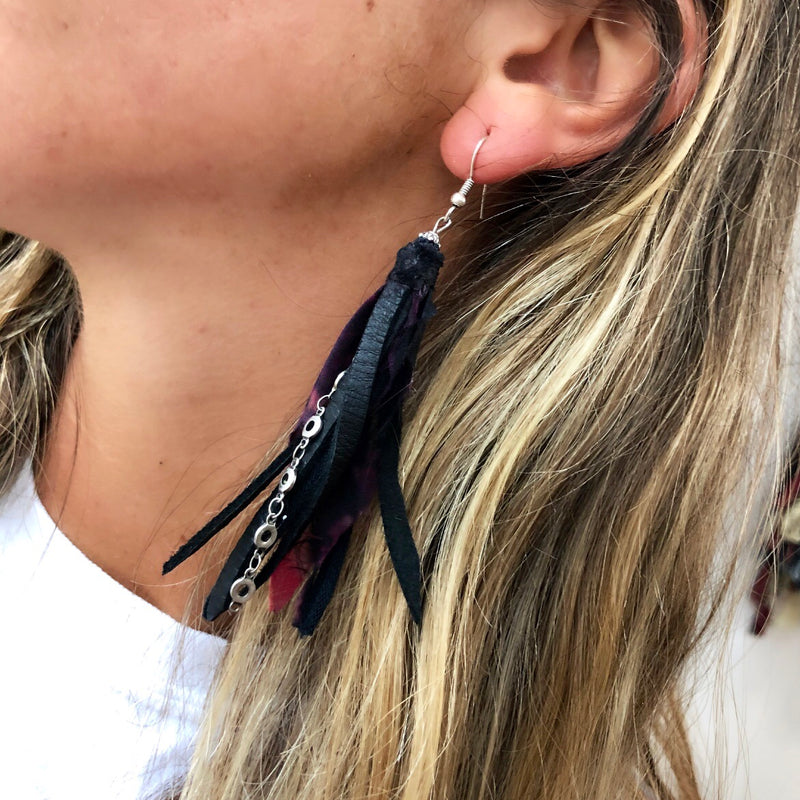Black Magic Tassel Earrings