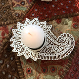 Carved Block Print Tea Light