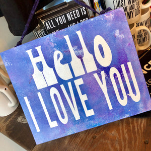 Hello I Love You Sign