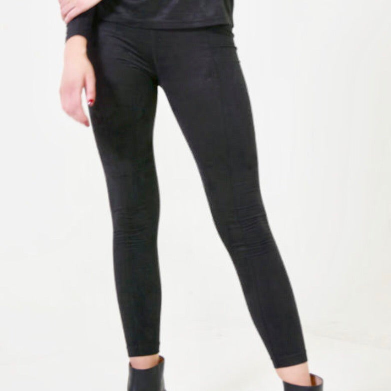Midnight Suede Legging