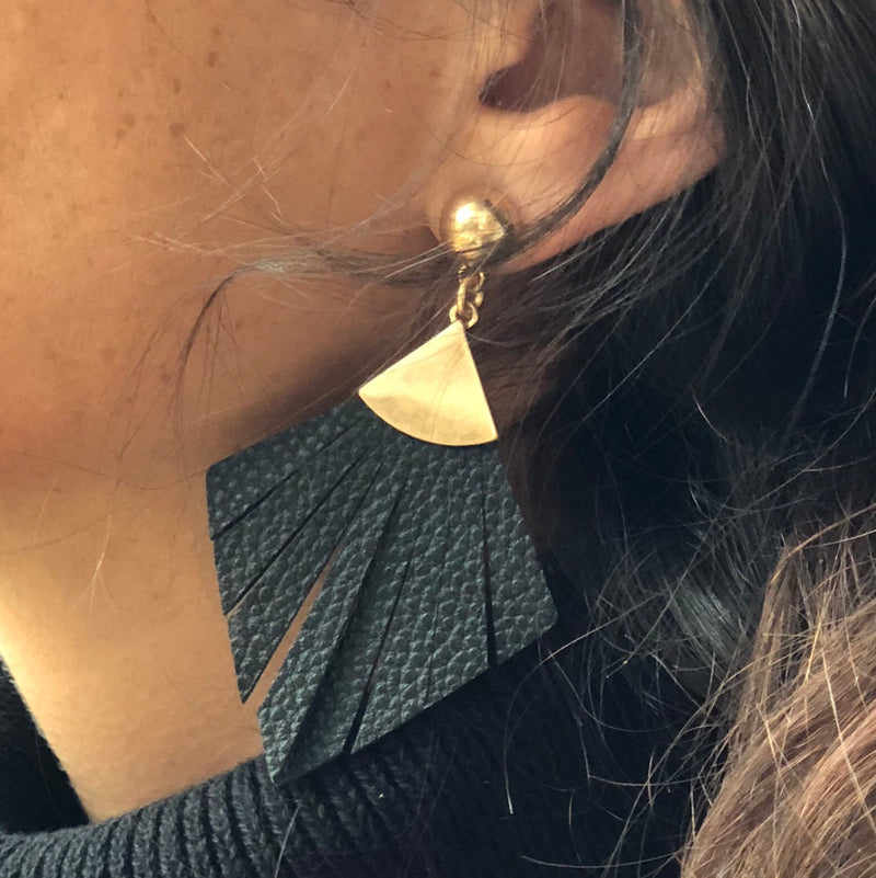 Vegan Leather Earrings