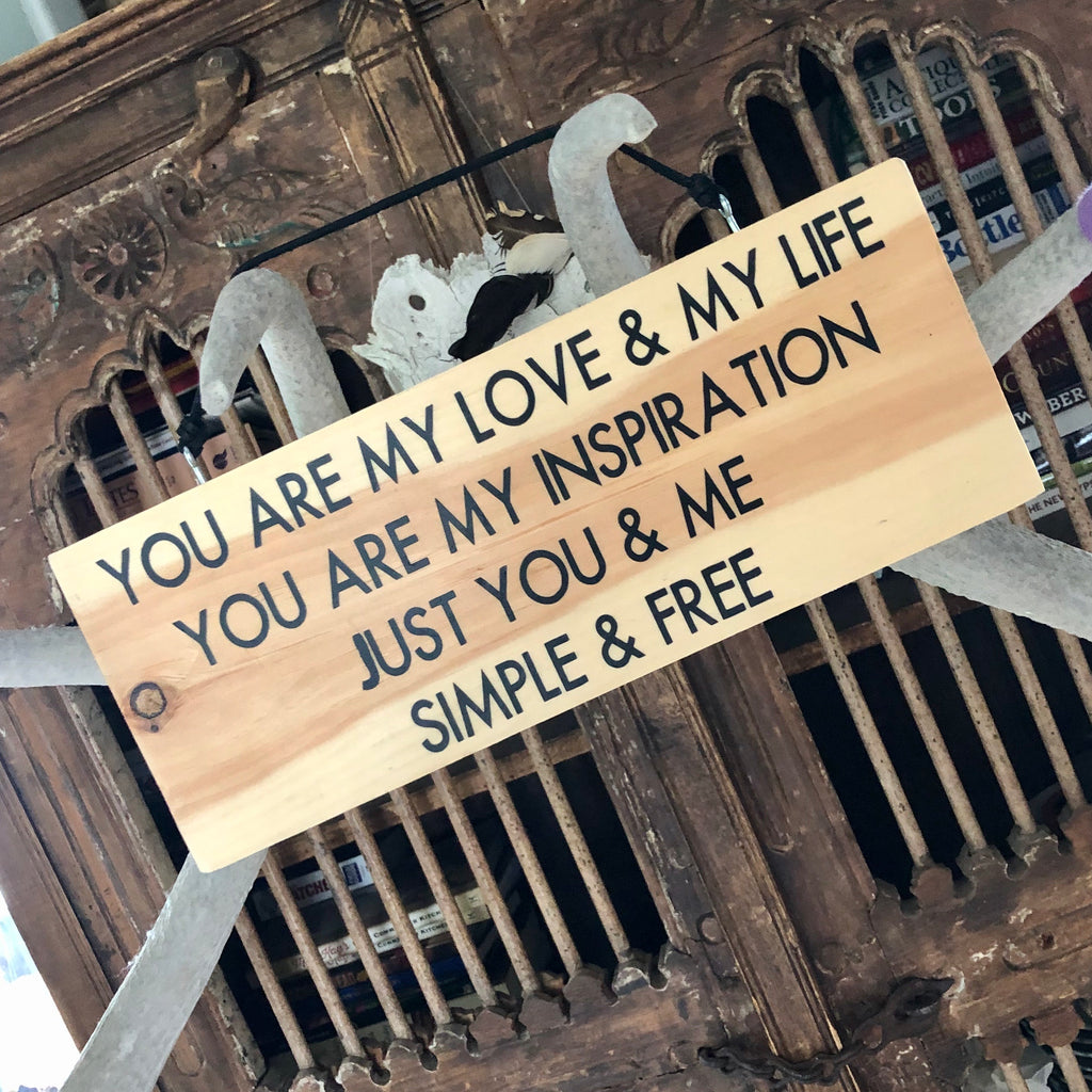 You Are My Love - Chicago Wood Wall Sign