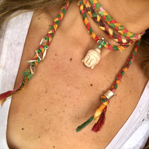 Flashback Buddha Wrap Necklace