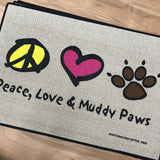 Peace Love Paws Door Mat