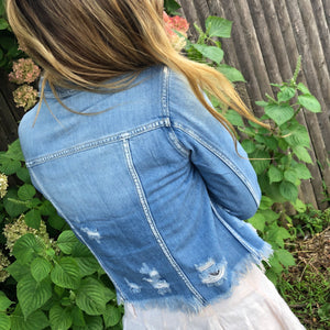 Lancaster Destroyed Denim Jacket
