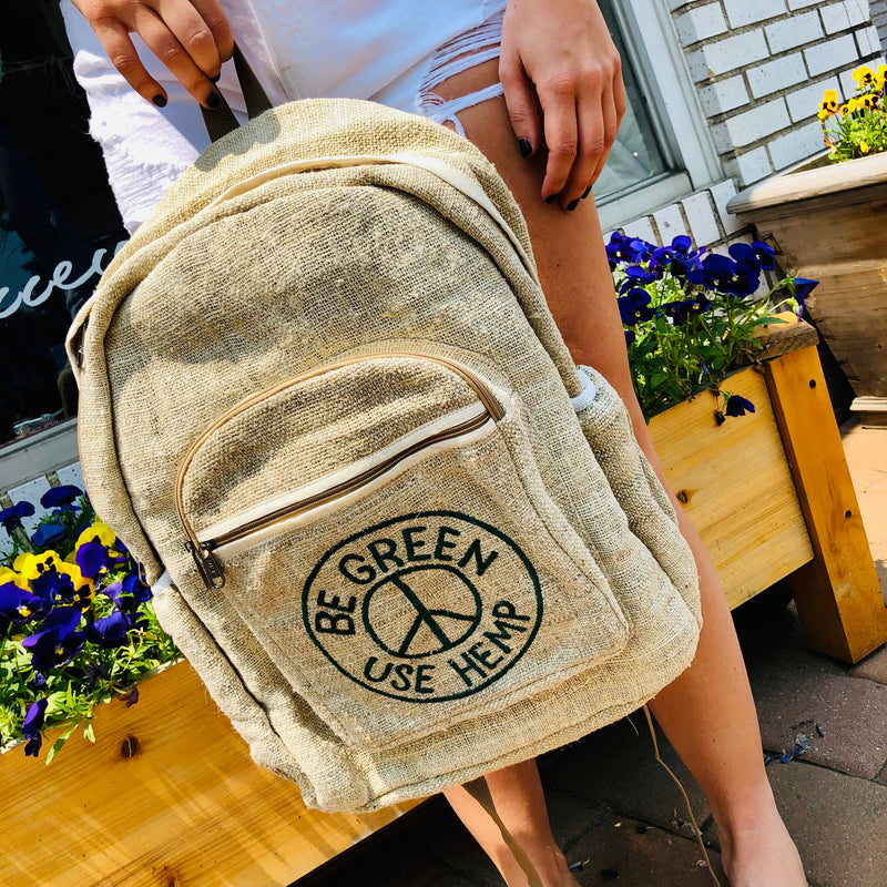 Be Green Use Hemp Backpack