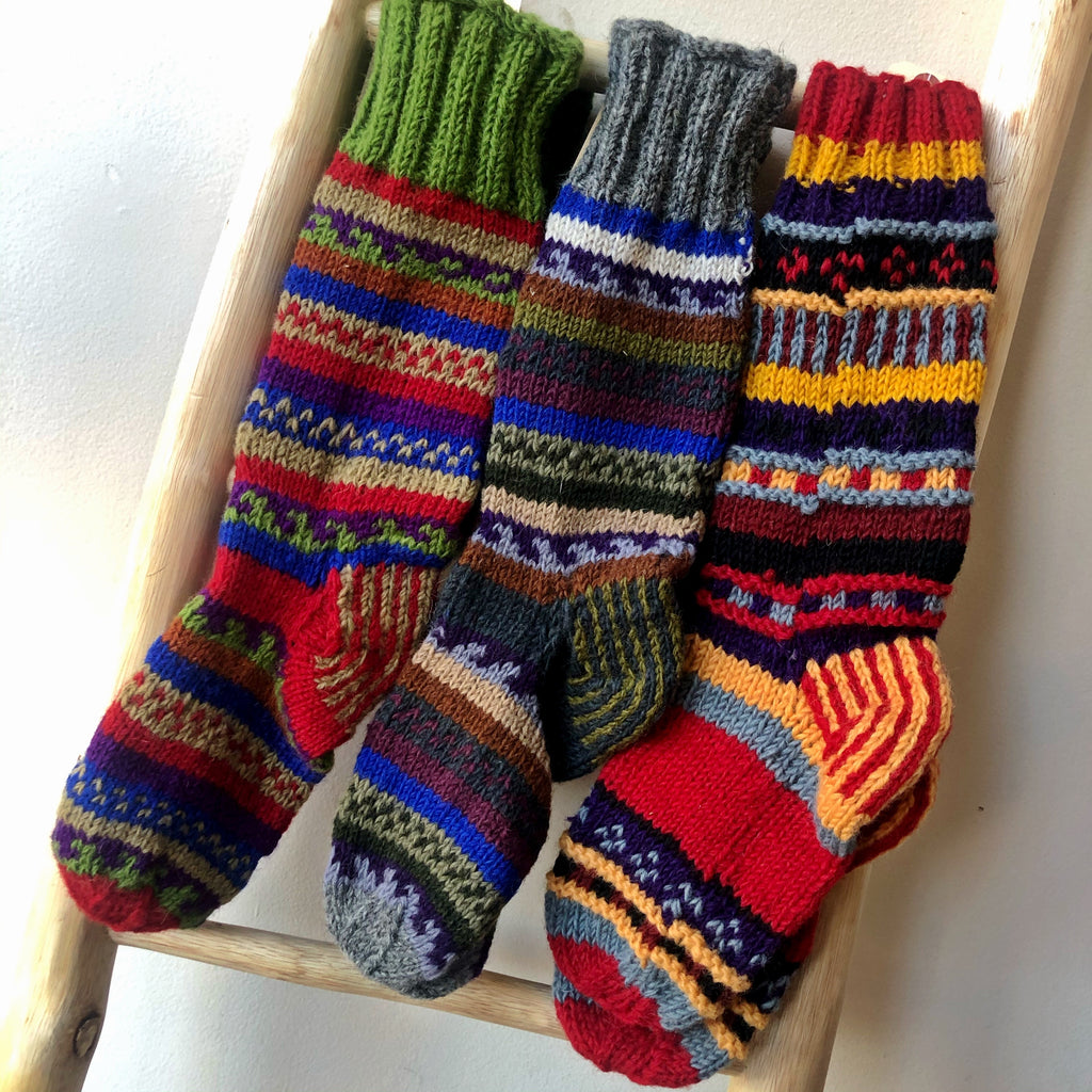 Easy Wind Wool Sock