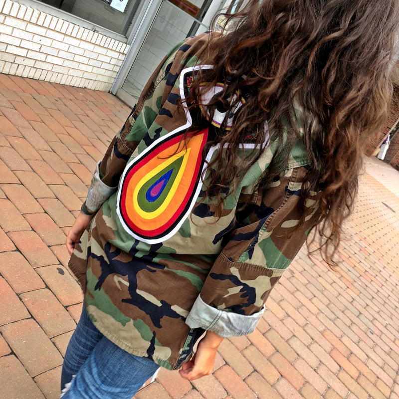 Cry Me A Rainbow Camo Jacket