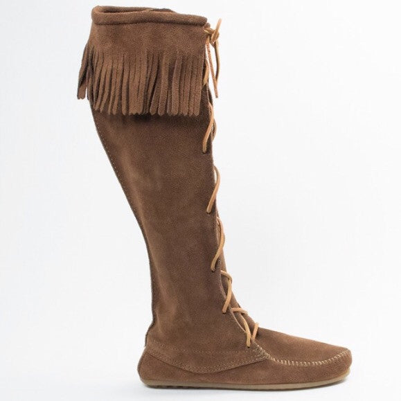 Front Lace Knee High Moccasin