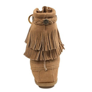 Double Fringe Short Tramper Moccasin - Wildflower