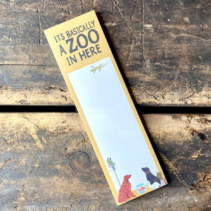 It's A Zoo Magnetic Notepad