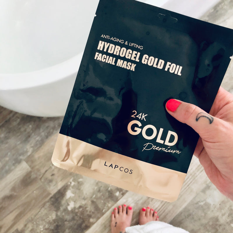 24K Gold Foil Face Mask