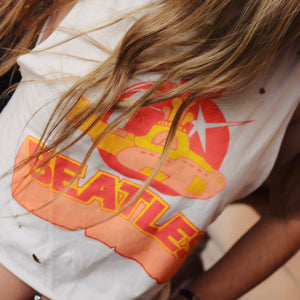 Yellow Submarine Crop Tee