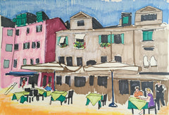 Florence & the Cafes 6x8 SOLD