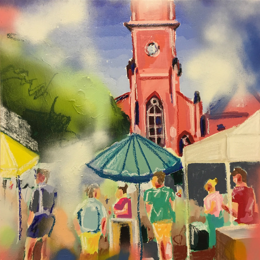 Stand Under My Umbrella 18x18 SOLD