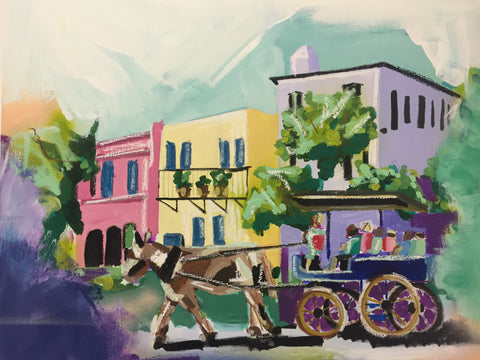 Stroll Down Rainbow Row 24x30 SOLD