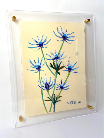 Blue Thistle for Lauren 15x18