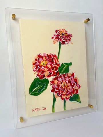 Zinnias for Mom 15x18