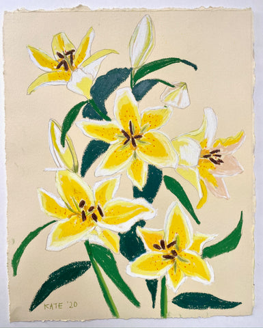 Lillies for Sarah 15x18