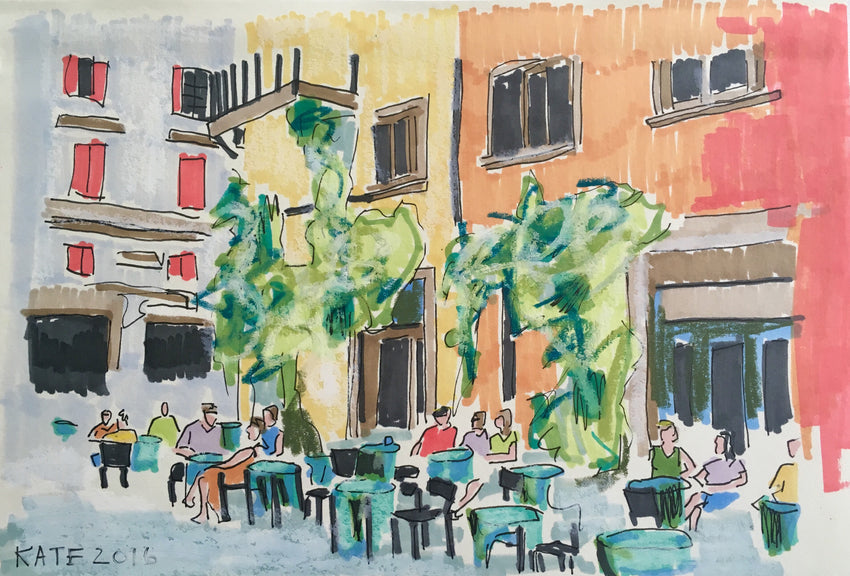 Tropical Feels in Firenze 6x8 SOLD