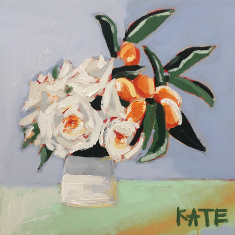 Orange Blossoms 12x12 SOLD