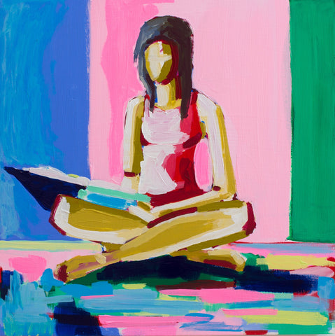 What Are You Reading? 16x16 SOLD