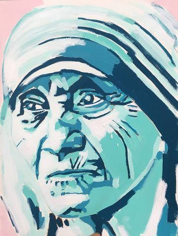 Mother Theresa 9x12 SOLD