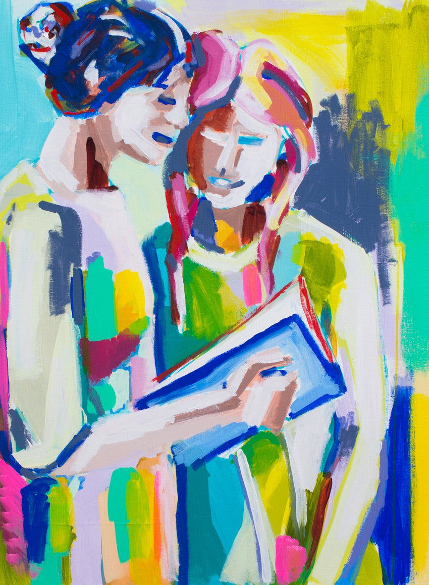Book Club 18x24 SOLD