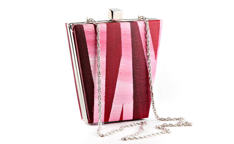 Pink Geometry Bucket Box Clutch
