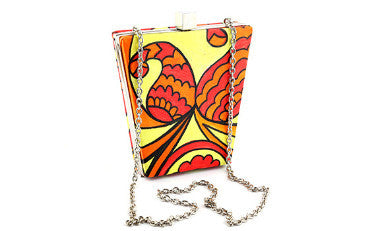 Warm Paisley Bucket Box Clutch