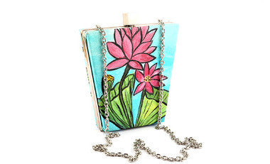 Lotus Garden Bucket Box Clutch