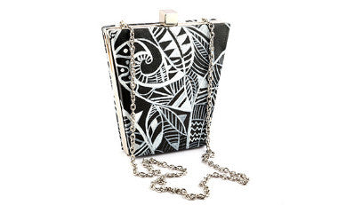 Silver Night Bucket Box Clutch