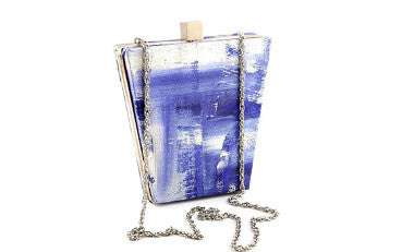 Blue Blizzard Bucket Box Clutch