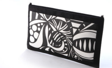 Zingy Geometry Sling Clutch