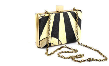 Gold Rectangle Box Clutch