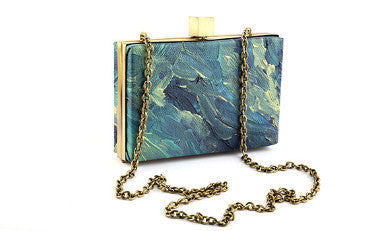 Ocean Tide Rectangle Box Clutch