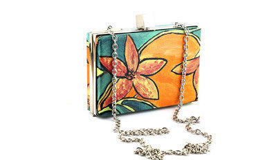 Floral Garden Rectangle Box Clutch