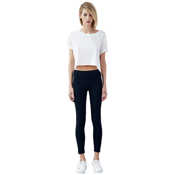Organic cotton women's leggings with centre seam / Black