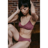 Catherine Bralette Dark Raspberry
