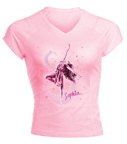Sophia  Believe in your dreams - Pink Performance T-shirt
