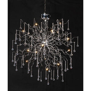 Burst Modern Crystal Chandelier, contemporary light fixture, modern light fixture,