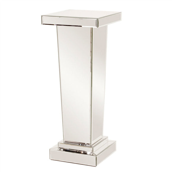 Tapered Mirrored Display Pedestal, modern pedestal, contemporary display pedestal.