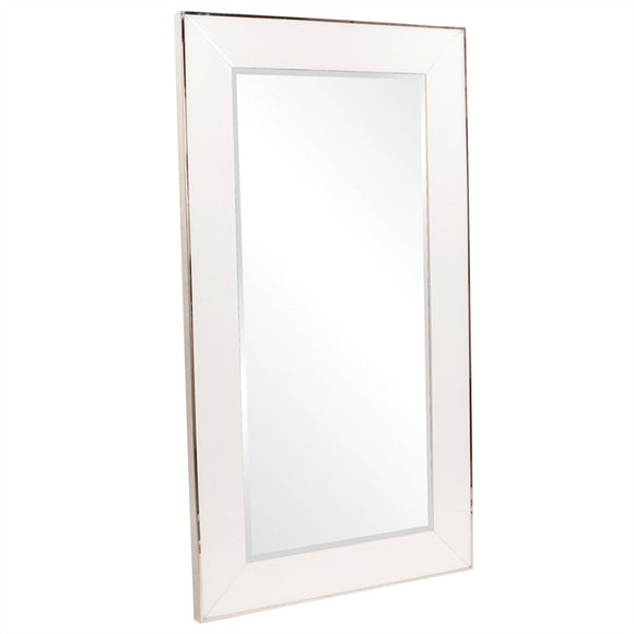 Melrose White Leaner Mirror, contemporary white leaner mirror