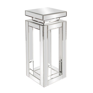 Pagoda Mirrored Pedestal, mirrored modern pedestal, contemporary pedestal